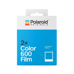 POLAROID 600 FILM DOUBLE PACK COULEUR