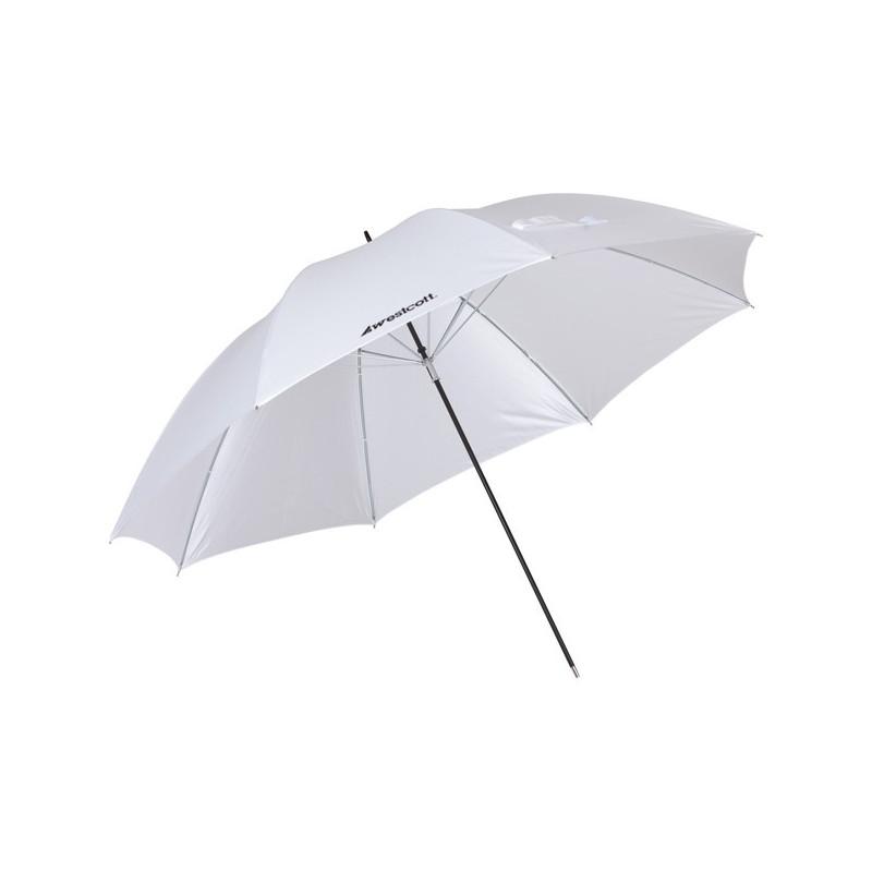 Westcott Parapluie Blanc satiné neutre